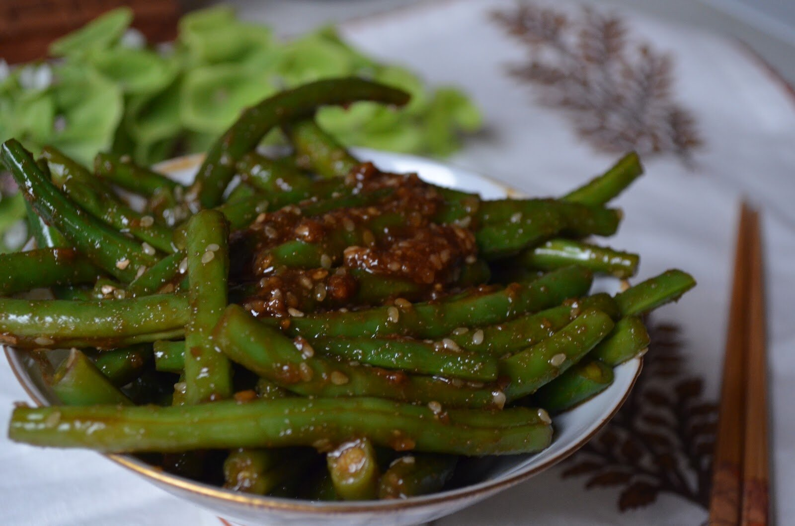 Spicy Green Beans with Homemade Soy-Free Teriyaki Sauce - The Tasty ...