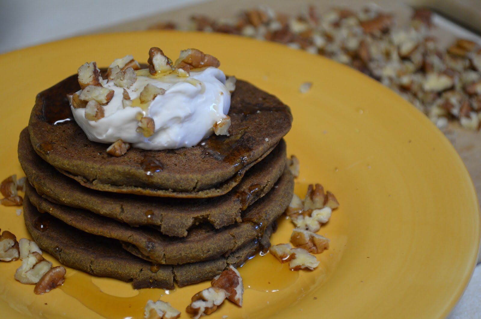 Pumpkin Spiced Teff Pancakes with Maple Coconut Whipped Cream and ...