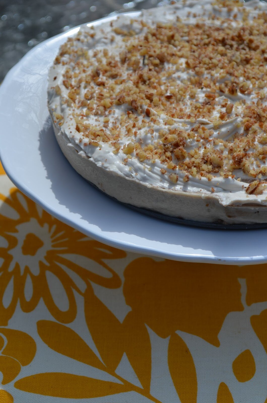 "Raw Banana Coconut ""Cream"" Pie with Raw Paleo Chocolate Sauce (dair..."
